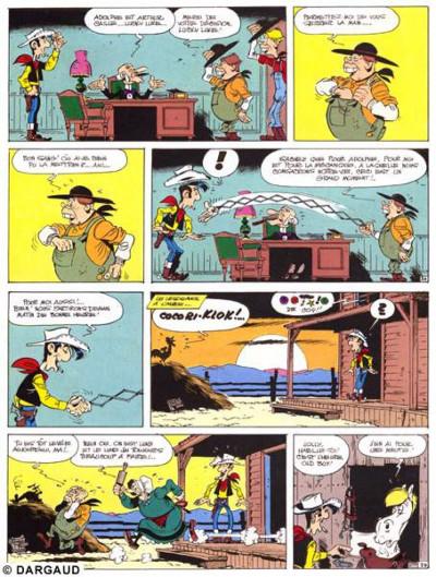 Page 1 lucky luke ; le bandit manchot