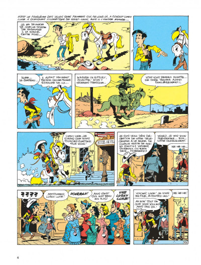 Page 6 lucky luke ; la fiancée de lucky luke