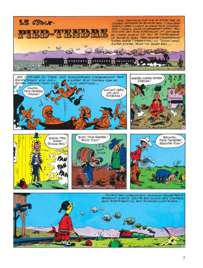 Page 3 Lucky Luke tome 33 - le pied-tendre