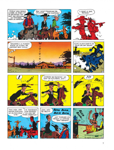 Page 7 Lucky Luke tome 33 - le pied-tendre