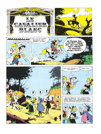Page 3 lucky luke ; le cavalier blanc