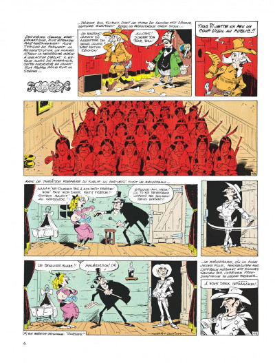 Page 6 lucky luke ; le cavalier blanc