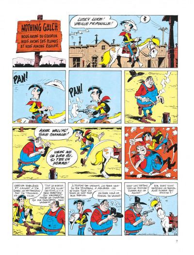 Page 7 lucky luke ; le cavalier blanc