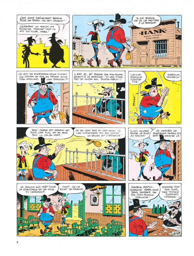 Page 8 lucky luke ; le cavalier blanc
