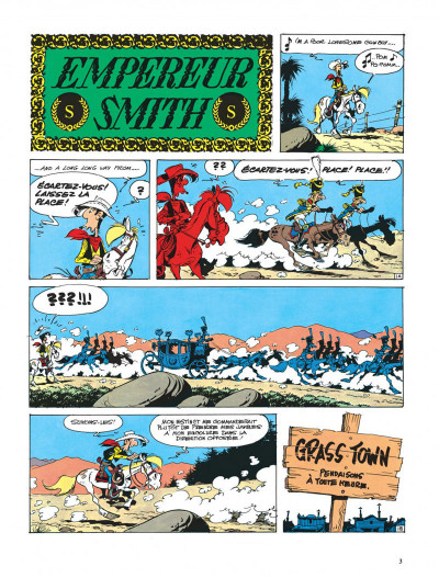 Page 3 lucky luke ; l'empereur smith