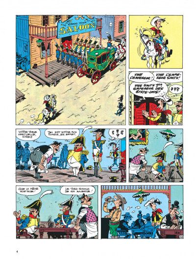 Page 4 lucky luke ; l'empereur smith