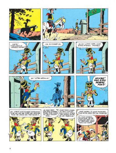 Page 8 lucky luke ; l'empereur smith