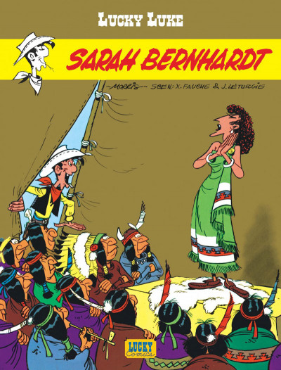 Couverture lucky luke ; sarah bernhardt