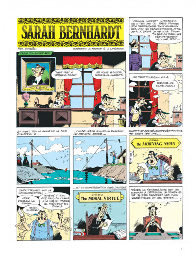 Page 3 lucky luke ; sarah bernhardt