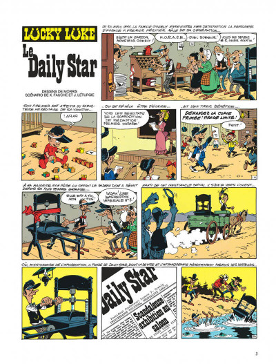 Page 3 lucky luke ; le daily star