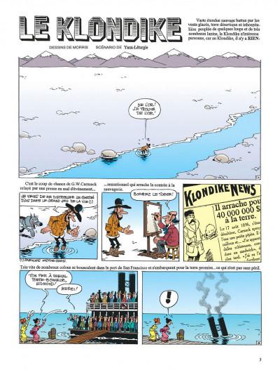 Page 3 lucky luke ; le klondike