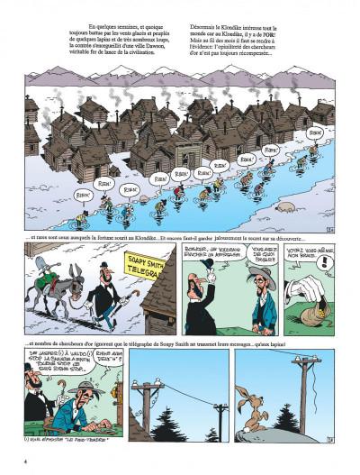 Page 4 lucky luke ; le klondike