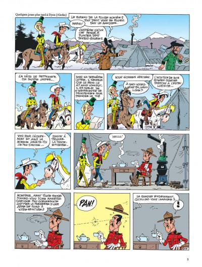 Page 5 lucky luke ; le klondike
