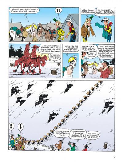 Page 7 lucky luke ; le klondike