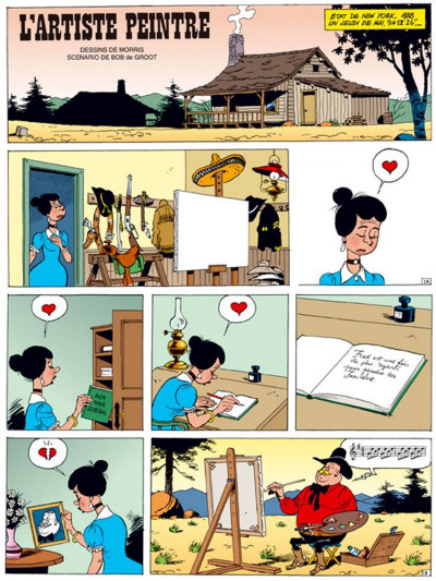 Page 1 lucky luke ; l'artiste peintre