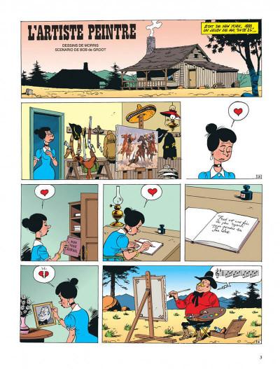 Page 3 lucky luke ; l'artiste peintre