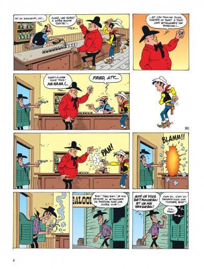 Page 8 lucky luke ; l'artiste peintre