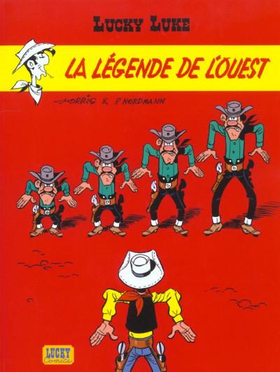 Couverture lucky luke tome 70 - la légende de l'ouest