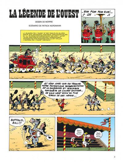 Page 3 lucky luke tome 70 - la légende de l'ouest