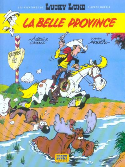 Couverture lucky luke - les nouvelles aventures de lucky luke tome 1 - la belle province