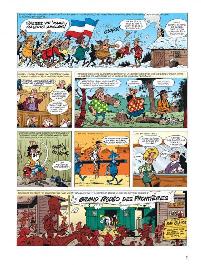 Page 5 lucky luke - les nouvelles aventures de lucky luke tome 1 - la belle province