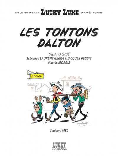 Page 1 les nouvelles aventures de Lucky Luke tome 6 - les tontons Dalton