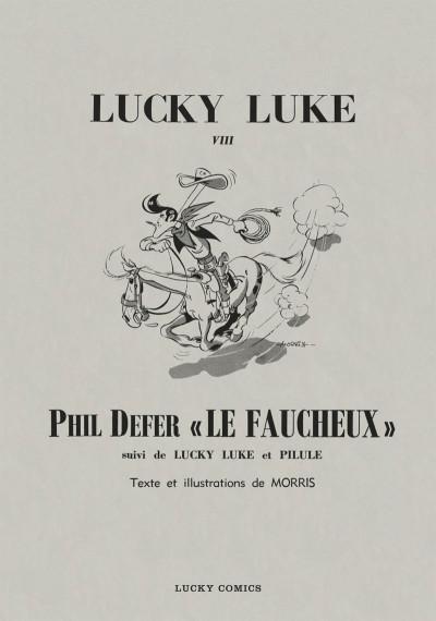 Page 1 Lucky Luke tirage de tête tome 8