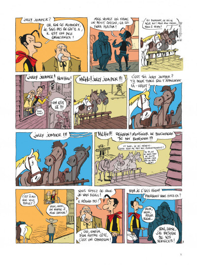 Page 5 Lucky Luke vu par... tome 2 - Jolly Jumper ne répond plus