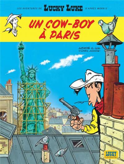 Couverture Lucky Luke - Les nouvelles aventures tome 8 - Un cow-boy à Paris