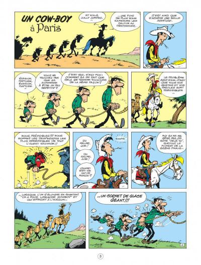 Page 3 Lucky Luke - Les nouvelles aventures tome 8 - Un cow-boy à Paris