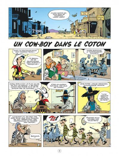 Page 3 Les nouvelles aventures de Lucky Luke tome 9 - Un cow-boy dans le coton
