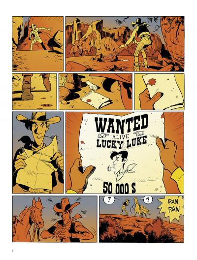 Page 6 Wanted Lucky Luke + ex-libris offert