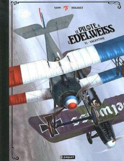 Couverture le pilote à l'edelweiss tome 1 - Valentine (Luxe)