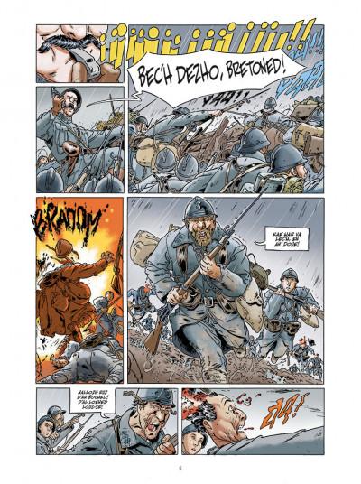 Page 4 Jean-Corentin Carré l'enfant soldat tome 1 (version breton)
