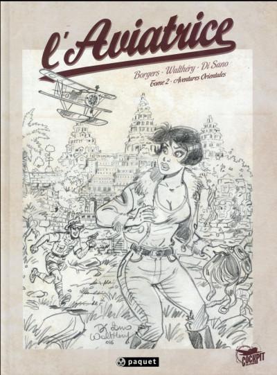 Couverture L'aviatrice tome 2 - crayonnés