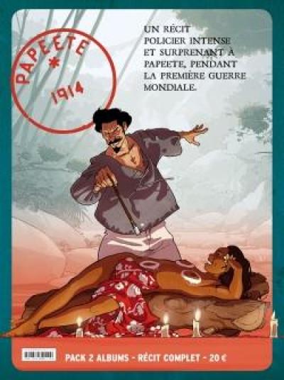 Couverture Papeete 1914 - étui tomes 1 et 2