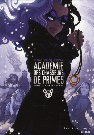 Couverture académie des chasseurs de primes tome 2 - princesses