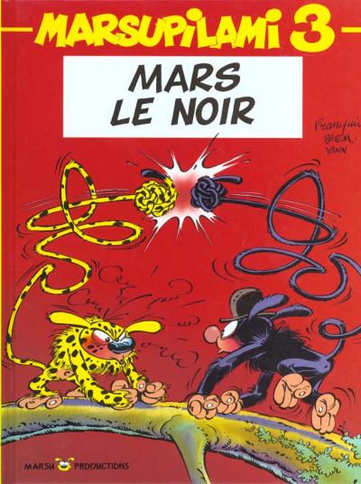 Couverture marsupilami tome 3 - Mars le noir