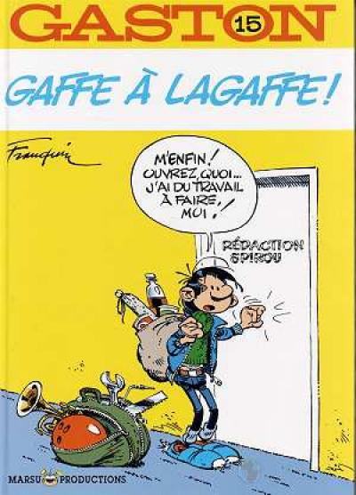 Couverture Gaston Lagaffe tome 15 - gaffe à lagaffe