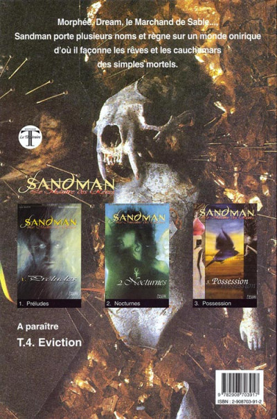 Dos Sandman tome 3 - possession