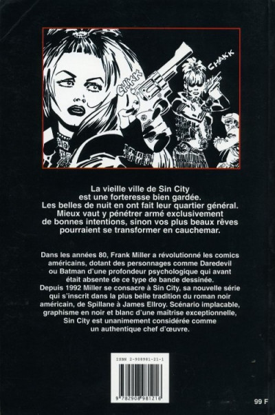 Dos Sin city tome 3 (édition 1996)