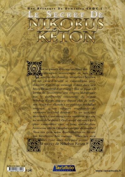 Dos une aventure de domenico tome 1 - le secret de nikobus keton