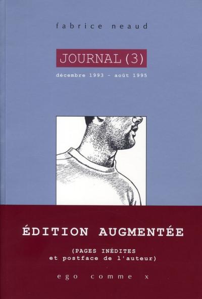 Couverture journal tome 3 - décembre 1993 - août 1995 (édition 2010)
