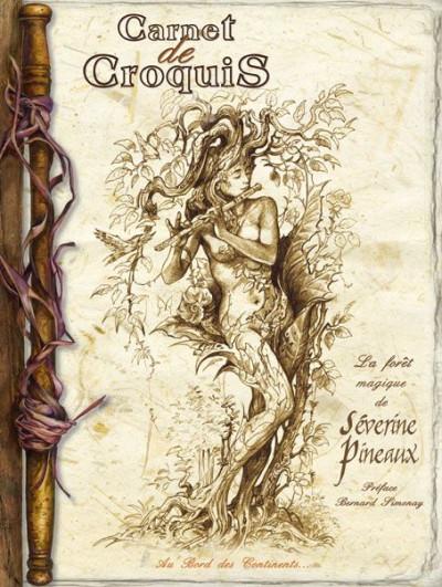 Couverture carnet de croquis ; la forêt magique