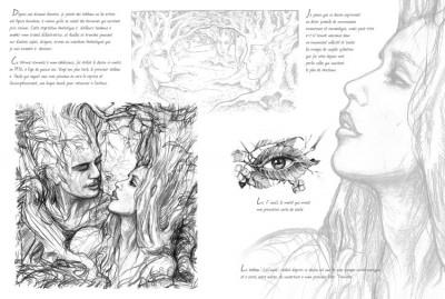 Page 1 carnet de croquis ; la forêt magique