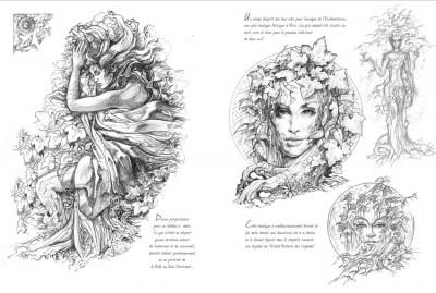Page 2 carnet de croquis ; la forêt magique