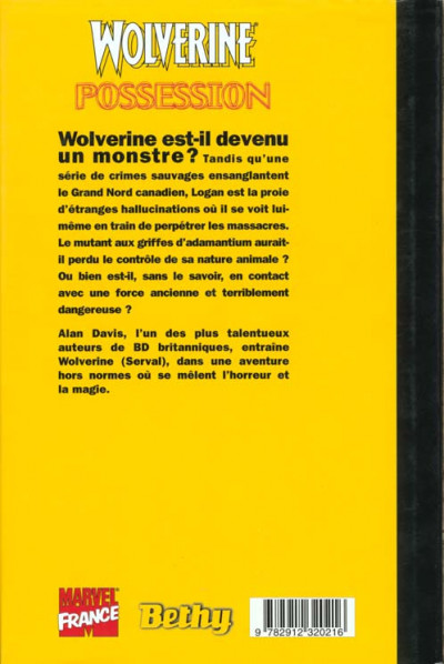 Dos Wolverine (Bethy) tome 5 - possession