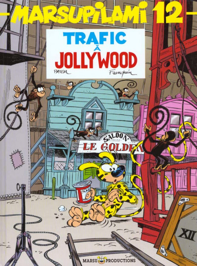 Couverture marsupilami tome 12 - Trafic à Jollywood