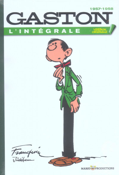 Couverture gaston - intégrale version originale tome 1 - 1957-1958
