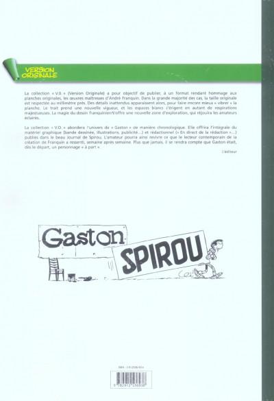 Dos gaston - intégrale version originale tome 1 - 1957-1958